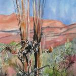 """Ghost Saguaros""  SOLD"