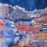 """Sinagua Cliff Dwelling""  26x21   SOLD"