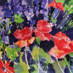 """Red Poppies""  21x23   SOLD"